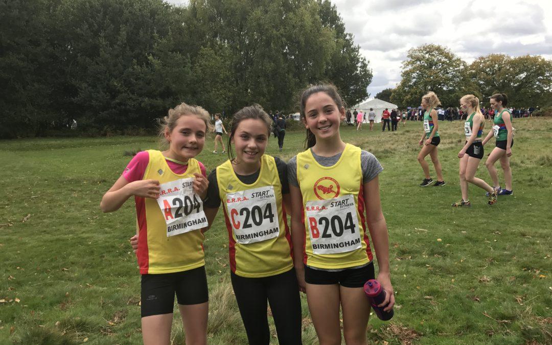U13 Girls Relay Team Tackle Sutton Park